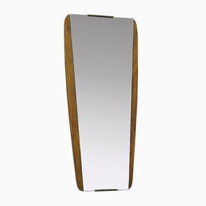 Specchio Mid-Century trapezoidale in teak, anni '60