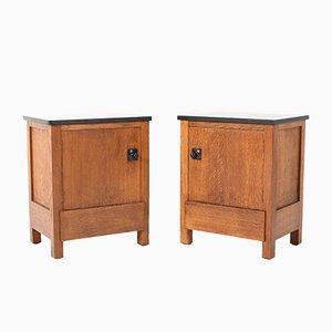 Art Deco Oak Cabinets by Hendrik Wouda for H. Pander & Zonen, 1924, Set of 2