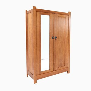 Art Deco Hague School Oak Wardrobe by H. Wouda for H. Pander & Zn., 1924
