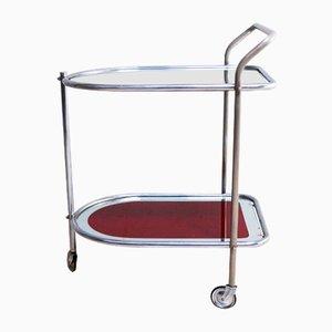Art Deco Italian Glass Drinks Trolley, 1950s