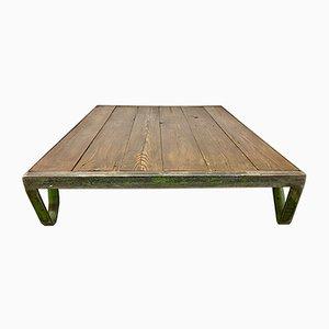 Tavolino da caffè basso industriale, anni '60