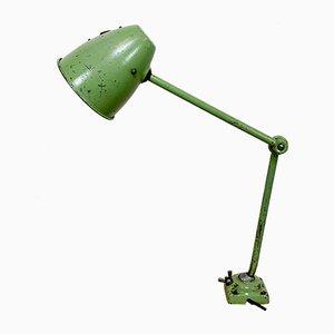 Lampada da tavolo industriale verde, anni '60