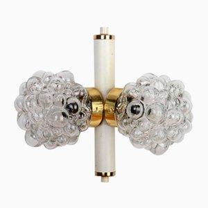 Glasblasen Deckenlampe von Kamenicky Senov, 1960er