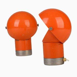 Space Age Tischlampen von Pavel Grus für Kamenický Šenov, 1970er, 2er Set