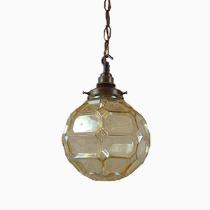 Ceiling Lamp with Faceted Globe, 1950s