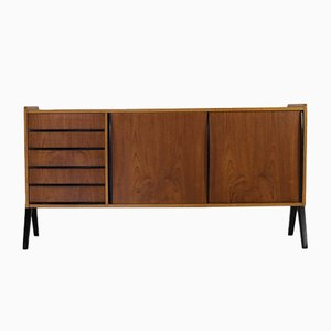 Danish Sideboard with Black Accents, 1960s
