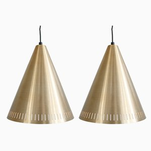 Mid-Century Brass Ceiling Lamps by Svend Aage Holm Sørensen, Set of 2
