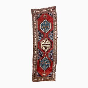 Tapis MIddle Eastern Tribal Runner Antique