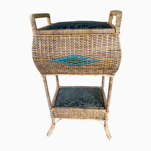 Vintage Wicker Sewing Box