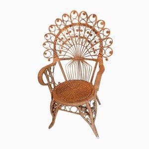 Mid-Century Bamboo Peacock Chair