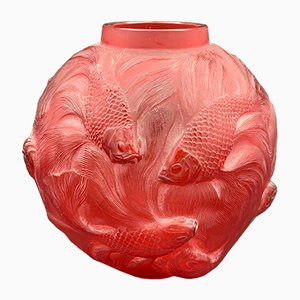 Red Formose Vase by René Lalique, 1926