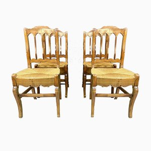 Empire Walnut Dining Chairs, Set of 4