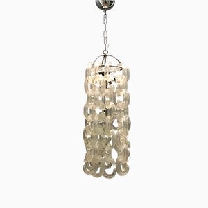 Lámpara de araña de cristal de Murano de Carlo Nason para Murano, años 70