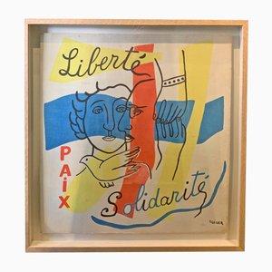 Paper Artwork by Fernand Léger, 1950s