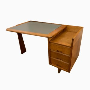 Mid-Century Wooden Desk by Guillerme et Chambron for Votre Maison