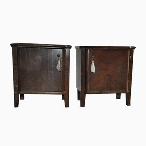 Hungarian Art Deco Nightstands, 1930s, Set of 2