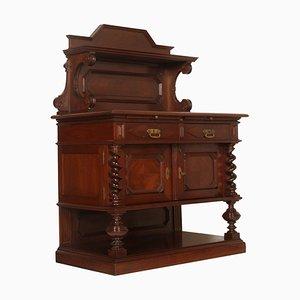 Buffet in castagno intagliato, fine XIX secolo