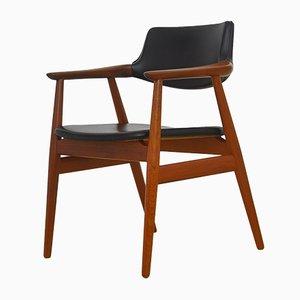 Mid-Century Schreibtisch Armlehnstuhl von Erik Kirkegaard für Høng Stolefabrik, 1950er