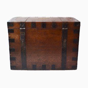 Antique Travelling Silver Trunk from Brook & Son of Edinburgh