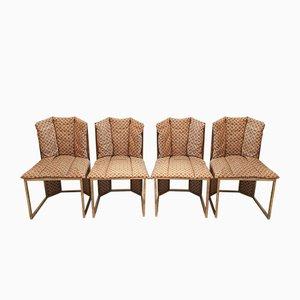 Italienische Vintage Esszimmerstühle, 1970er, 4er Set