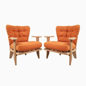 Armchairs by Guillerme et Chambron for Votre Maison, 1960s, Set of 2