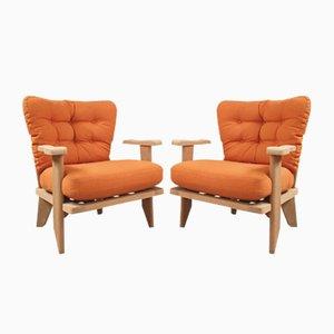 Armlehnstühle von Guillerme et Chambron für Votre Maison, 1960er, 2er Set