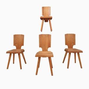 Stühle von Pierre Chapo, 1970er, 4er Set