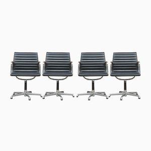 Chaises de Bureau EA 108 Mid-Century par Charles & Ray Eames pour ICF De Padova, Set de 4