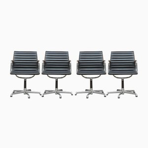 Mid-Century EA 108 Desk Chairs by Charles & Ray Eames for ICF De Padova, Set of 4