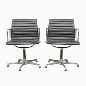 Mid-Century Italian Model EA 108 Desk Chairs by Charles & Ray Eames for ICF De Padova, Set of 2
