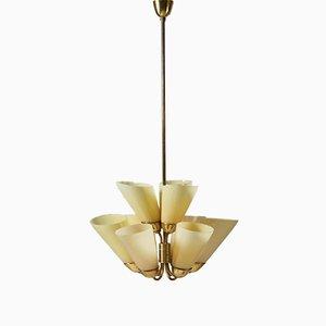 Chandelier Ceiling Lamp Model K1-40 by Mauri Almari for Idman, Finland, 1950s