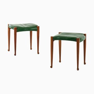 Swedish Model 973 Stools by Josef Frank for Svenskt Tenn, 1950s, Set of 2