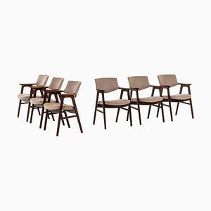 Dänische Palisander Esszimmerstühle von Erik Kirkegaard für Høng Stolefabrik, 1960er, 6er Set