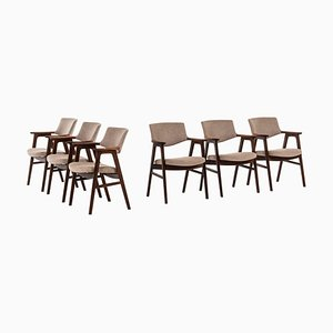 Danish Rosewood Dining Chairs by Erik Kirkegaard for Høng Stolefabrik, 1960s, Set of 6
