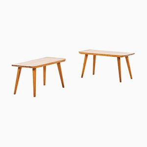 Swedish Model Visingsö Benches by Carl Malmsten for Svensk Fur, 1950s, Set of 2