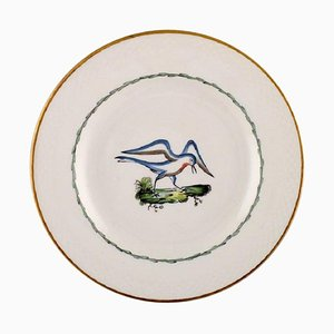 Royal Copenhagen Lunch Plate in Hand-Painted Porcelain with Bird Motifs