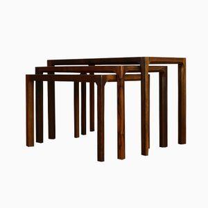 Danish Vintage Rosewood Nesting Tables by Aksel Kjersgaard, Set of 3