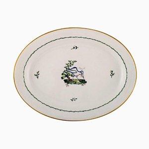Piatto da portata grande ovale Royal Copenhagen in porcellana dipinta a mano