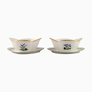 Royal Copenhagen Sauce Boats in Hand-Painted Porcelain, Set of 2