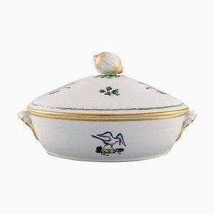 Royal Copenhagen Lidded Tureen in Hand-Painted Porcelain with Bird Motifs