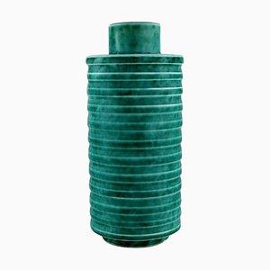 Art Deco Zylindrische Argenta Vase von Wilhelm Kåge für Gustavsberg, 1940er