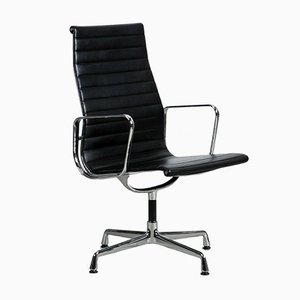 Black & Aluminium EA 112 Office Swivel Chair by Charles & Ray Eames for Vitra, 1980s