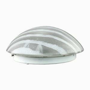 Space Age Glass Ceiling Lamp from Peill & Putzler, 1970s