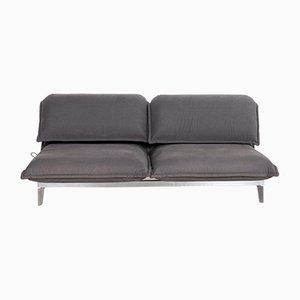 Grey Blue Fabric Nova 2-Seat Sofa Bed from Rolf Benz
