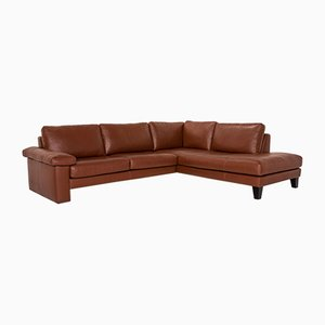 Brown Leather System Plus Corner Sofa from Machalke