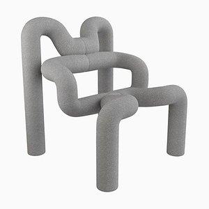 Light Grey Armchair by Terje Ekstrom, Norway, 1980s