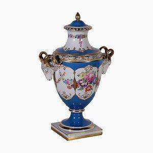 Vaso in porcellana con portacandela, Germania, XIX secolo