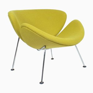 Yellow Green Orange Slice Chair by Pierre Paulin for Artifort, 1960s