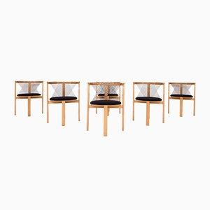 String Chairs by Niels Jørgen Haugesen for Tranekaer, Denmark, 1980s, Set of 6
