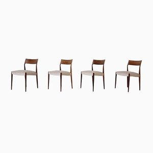 Rosewood Dining Chairs from Fristho, the Netherlands, 1960s, Set of 4